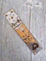 1930'S 40'S 50'S 大型 バーンドア カーポート ヘヴィーデューティー サーフェイスロック 錠 鍵 アイアン シャビーシック  ペインティング アンティーク ビンテージ
