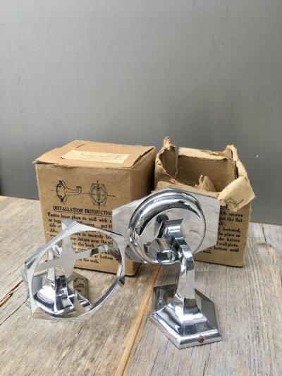 画像1: 1920'S 30'S NOS デッドストック タンブラーホルダー カップホルダー マグホルダー ブラス クロムメッキ アンティーク ビンテージ