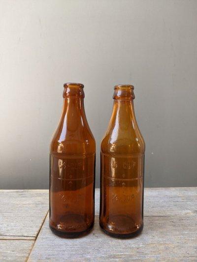 画像2: 1930'S SODA BOTTLE ソーダボトル ポップボトル ガラスボトル メジャーボトル アンバー アンティーク ビンテージ