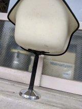1960'S 70'S レア! 脚 レッグ EAMES for シェルチェア スイベル バースツール アイアン ラウンド ベース ハーマンミラー チャールズイームズ アンティーク  ビンテージ