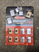 1950'S 60'S RELIANCE WIND PROOF LIGHTER JAPAN MADE NOS デッドストック ウインドプルーフ オイルライター 1SEAT/SET. アドバタイジング ZIPPO ジッポ ではありません。。アンティーク ビンテージ