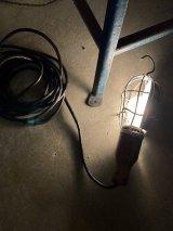 1930'S 40'S McGILL MFG.CO.INC トラブルランプ アンティーク 1灯 インダストリアル CAGE LIGHT ウッドハンドル ケージランプ トラブルライト ビンテージ