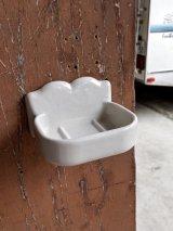 アーリーセンチュリー ビクトリアン 大型 ソープディッシュ ポーセリン 陶器 アンティーク ビンテージ