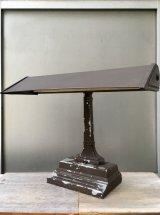 1940'S  インダストリアル オフィス SOHO デスクランプ アイアン ブラウン 蛍光灯 15W 1灯 ビンテージ アンティーク
