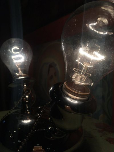 画像2: 1930'S 40'S 30年代 40年代 アールデコ クロムメッキ マシーンエイジ シーリングライト 2灯 ウォールマウント&シーリングマウント フラッシュマウント アンティーク ビンテージ