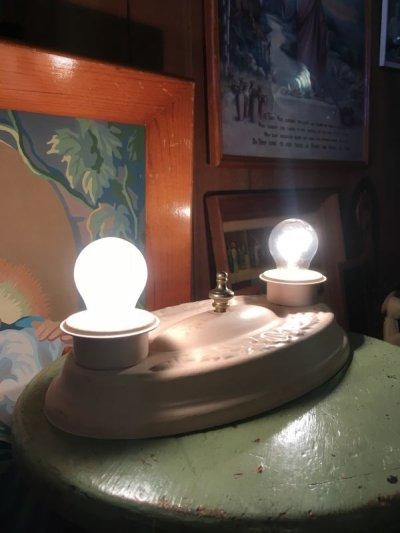 画像1: 1930'S ビクトリアン ウォールマウント&シーリングライト 2灯 装飾 アンティーク ビンテージ