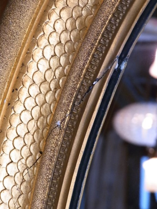 other photographs.1: アンティーク 超巨大 フレーム付き鏡 アンティークミラー 装飾枠 ビクトリアン オーバルミラー 大型 ビンテージ