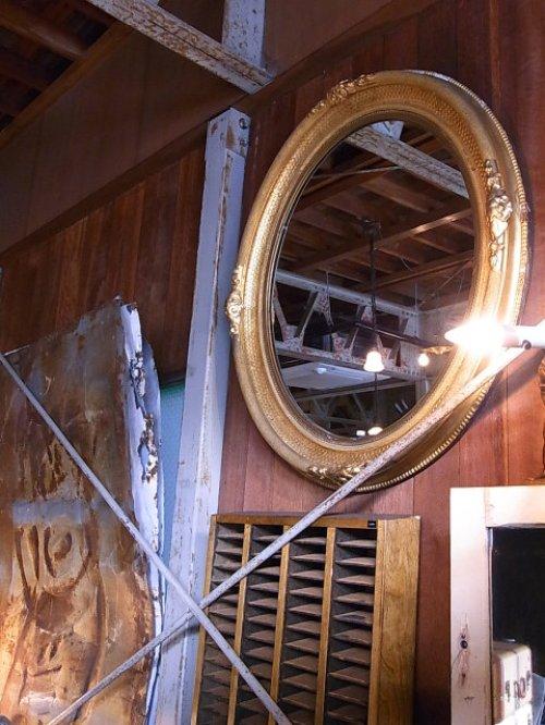 other photographs.3: アンティーク 超巨大 フレーム付き鏡 アンティークミラー 装飾枠 ビクトリアン オーバルミラー 大型 ビンテージ
