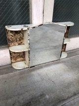 アールデコ マイアミデコ フロリダデコ トロピカル シャビーシック バニティキャビネット バニティミラー メディスンキャビネット 洗面 ミラーキャビネット Bathroom Medicine Cabinet メタル アンティーク ビンテージ