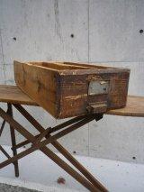 アンティーク 引き出し 取っ手付き 長い特大 木製ドロワー シャビーシック ビンテージ