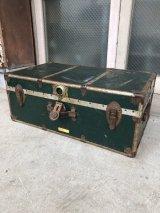 メタルトランク 中型 インナートレイ スーツケース 店舗什器 アンティーク ビンテージ