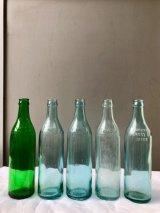 1900'S 1910'S CLICQUOT CLUB AQUA GLASS 気泡ガラス SODA BOTTLE ソーダボトル ポップボトル ガラス瓶 Reed Glass クリアガラス 色付きガラス 一輪挿し フラワーベース アンティーク ビンテージ