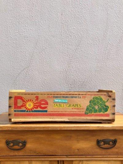 画像2: ウッドボックス DOLE TABLE GRAPES FLORIDA 木箱 ストレージBOX アドバタイジング アンティーク ビンテージ
