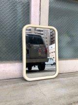1930'S 40'S ミルクホワイト ミラー ウッドフレーム フレーム付き鏡 シャビーシック アンティーク ビンテージ
