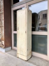 1940'S 50'S メタルロッカー ホワイト 6段 シングルドア gas station locker インダストリアル アンティーク ビンテージ