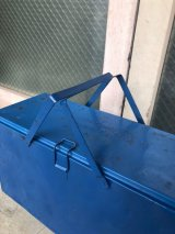 1940'S KNAPP MONARCH THERMA BOX メタルクーラーボックス クーラーボックス ICE BOX 後塗り ブルー アウトドア アンティーク ビンテージ