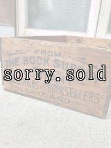 ウッドボックス THE BOOK SUPPLY COMPANY ブック 本 アーリーセンチュリー クレート 木箱 ストレージボックス 店舗什器 アンティーク ビンテージ