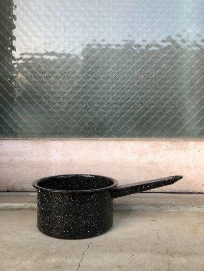 画像2: 片手鍋 ミルクパン stew pots シチューポット 鍋 ホーロー スチール キャンプに キッチンディスプレイに アンティーク ビンテージ