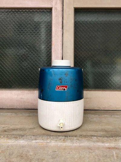 画像2: ビンテージ レア メタリックブルー コールマン 2ガロン トールジャグ 1970'S アウトドア アンティーク
