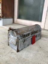 1940'S 50'S U.S.MAIL BOX シャビーシック ペイント ステンシル ペンキ アメリカ ポスト メールボックス メタル アンティーク ビンテージ