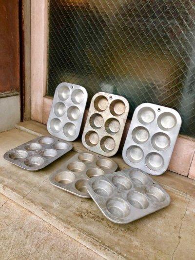 画像1: MIRRO ミロ COMET コメット USA マフィン カップケーキ モールド 型 アルミカップ 小物入れ テーブルソーター カップケーキパン マフィンパン カントリー雑貨 ショップ什器 アンティーク ビンテージ