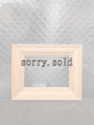 画像1: シンプル フレーム ウッド 無垢    木製フレーム 額縁 ビンテージ