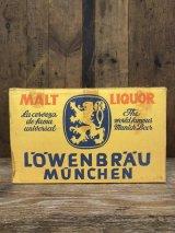 1950'S 60'S レア レーベンブロイ ビール ビアー BEER コンテナ 箱 VINTAGE LOWENBRAU CARD BOARD アドバタイシング BOX ダンボール クラフトボックス BAR ディスプレイ 店舗ディスプレイ アンティーク ビンテージ