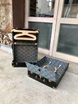 ラゲッジ トランク ワードローブ 旅 中型 レア    縦開き  分離型 スーツケース ジャーニー 店舗什器に アンティーク ビンテージ