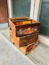 1930'S 40'S 50'S FRIUT CRATE ベジタブル箱 フルーツBOX ウッドクレート ショップディスプレイ 収納 店舗什器 AMERICAN FRUIT GROWERS INC, GRAPES TOMATO ウッドボックス  木箱 トマトボックス アドバタイジング アンティーク ビンテージ