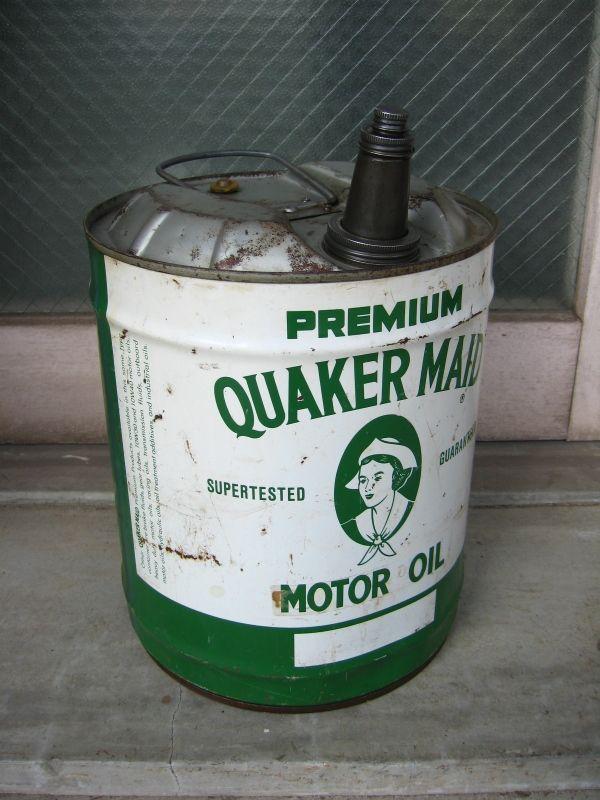 1950 s 60 s quaker maid motoroil 携行缶 アウトドア キャンプ オイル缶